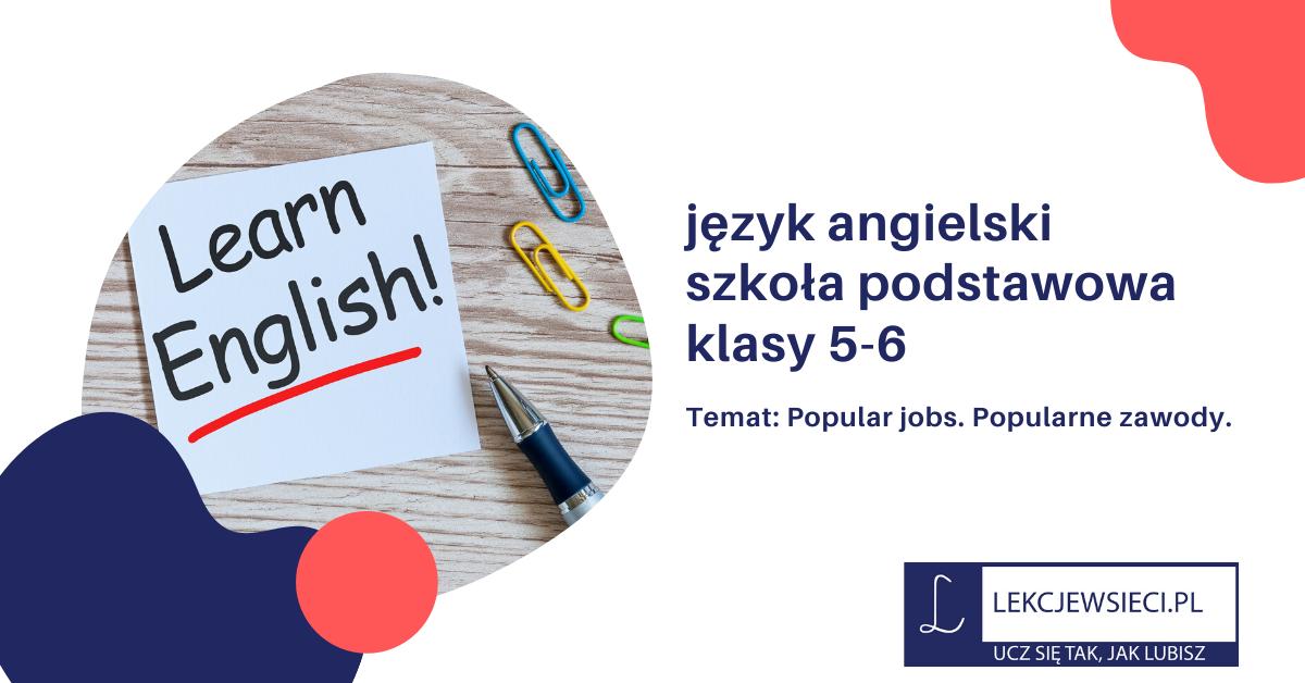 Popular jobs. Popularne zawody.