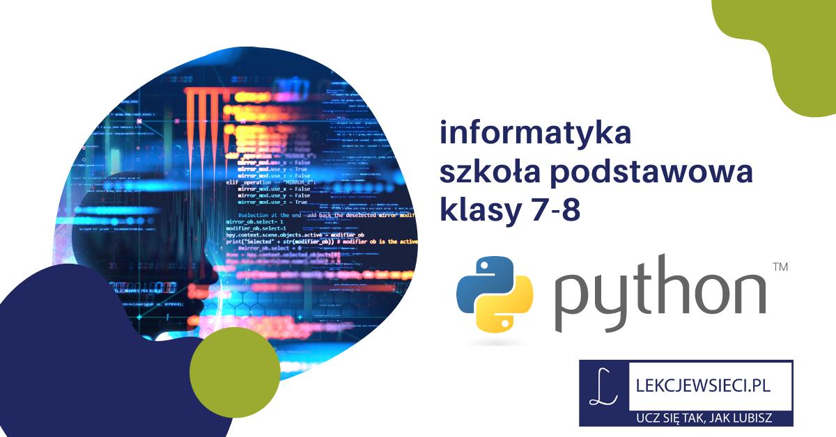 Język programowania Python – listy wstęp.