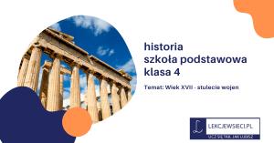 Wiek XVII – stulecie wojen